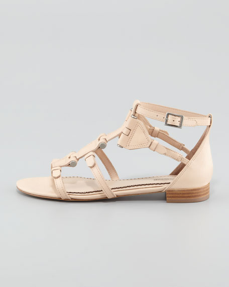 Eleni Hinged Gladiator Sandal, Tan