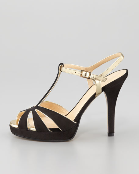 rosie strappy suede sandal, black