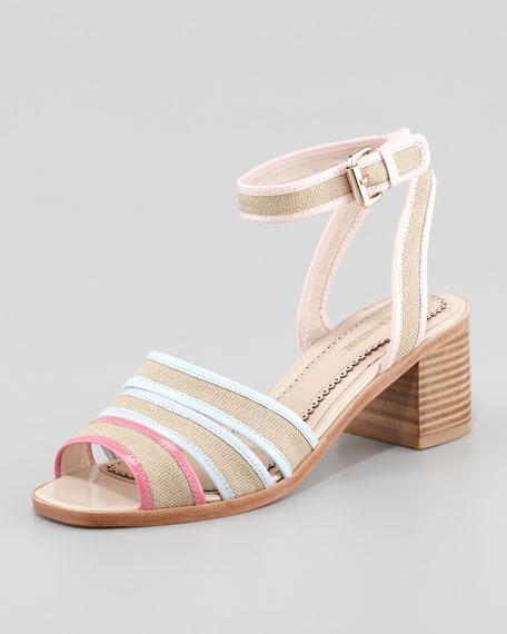 Rylie 2 Canvas Sandal, Pink/Lilac/Blue