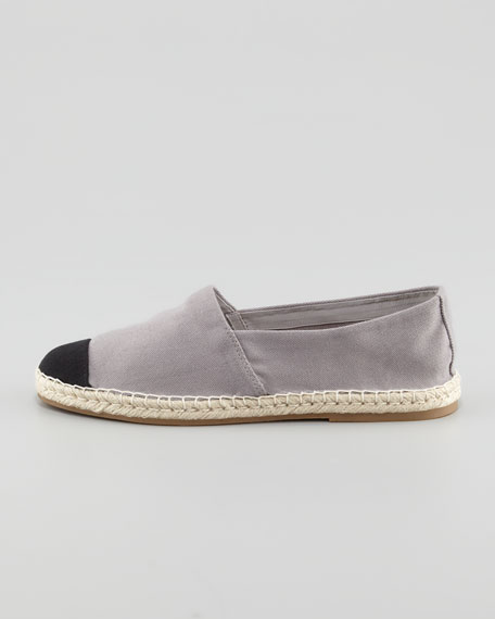Bailey Flat Canvas Espadrille, Gray