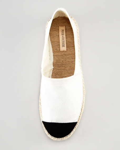 Bailey Flat Canvas Espadrille, White