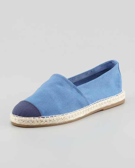Bailey Flat Canvas Espadrille, Denim