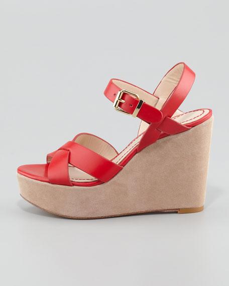Lysa Wedge Sandal, Red