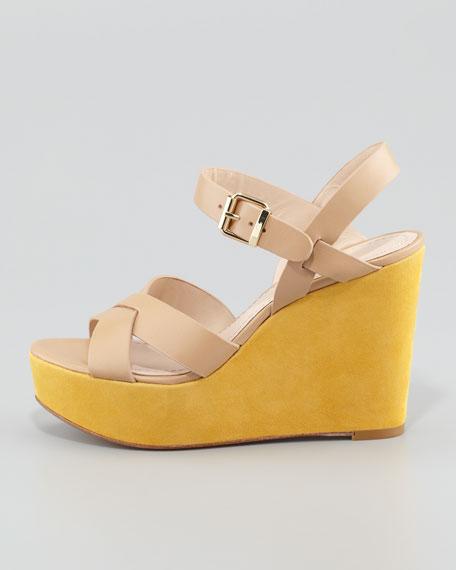 Lysa Wedge Sandal, Tan