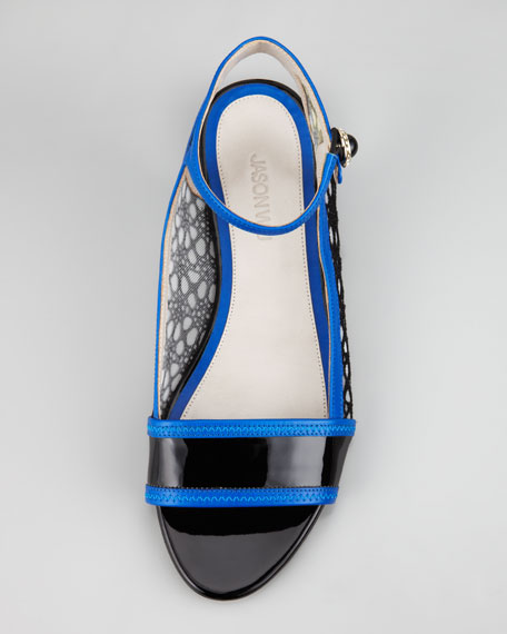 Flat Ankle-Wrap Lace Flat