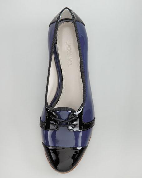 Dorian Patent Cap-Toe Loafer