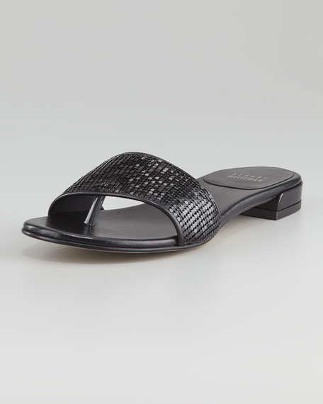 Mailroom Stretch Thong Sandal, Black
