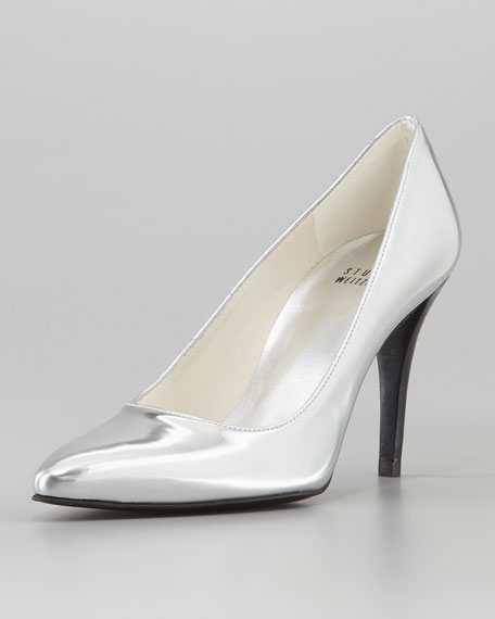 Power Pointy Pump, Silver
