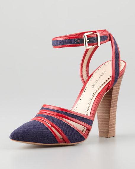 Kiran 2 Ankle-Wrap Sandal, Red/Navy