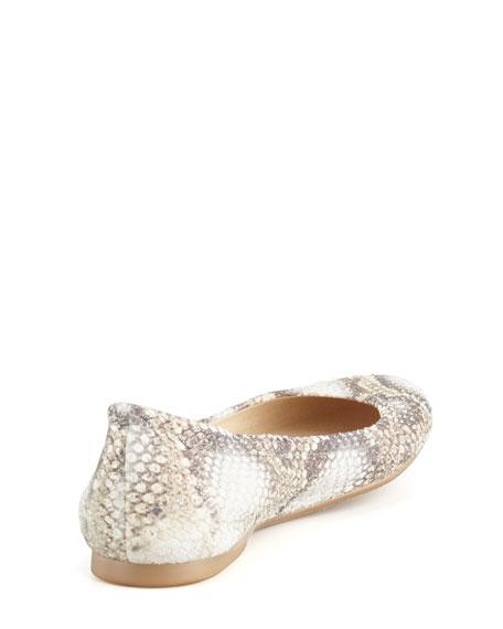 Dotsnot Snake-Print Ballerina Flat
