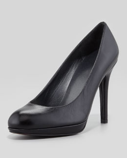 Stuart Weitzman Platswoon Leather Platform Pump