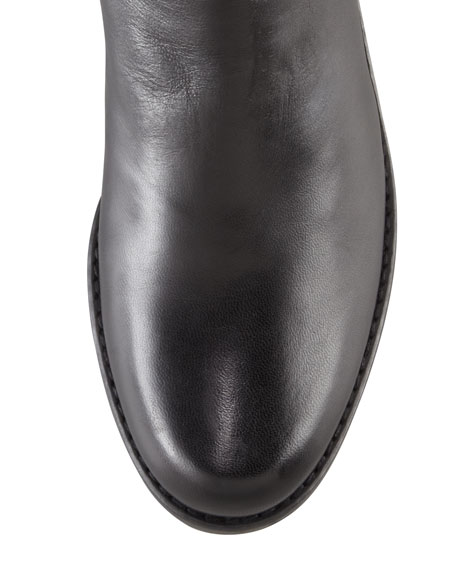 Reserve Leather Stretch-Back Knee Boot (Made to Order)