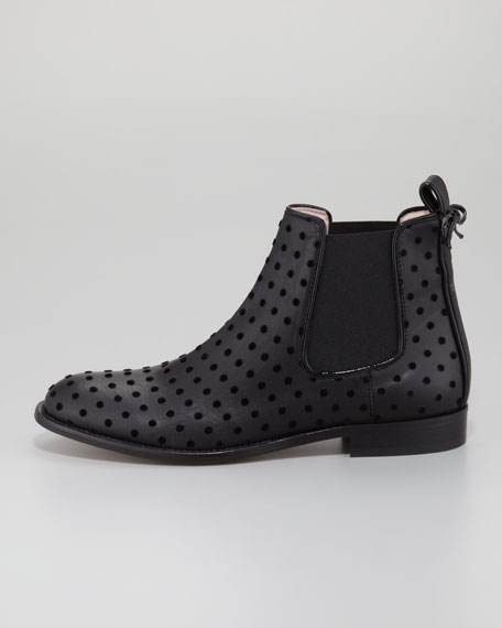 Dotted Bow-Back Chelsea Boot