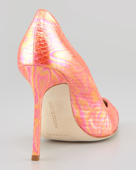 BB Holographic Snake Pump, Pink