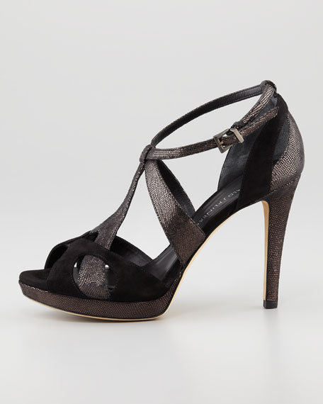 Adele T-Strap Sandal, Black