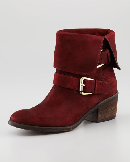 Danee Suede Ankle Boot, Oxblood