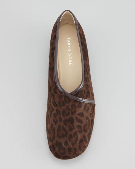 Kelsey Leopard-Print Envelope Wedge Loafer