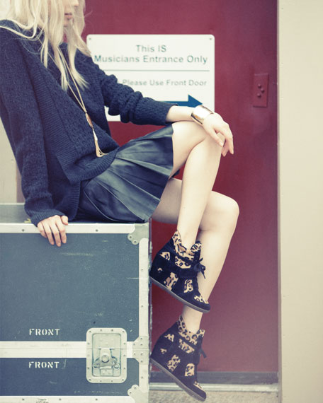 Bonno Leopard-Print Calf Hair Wedge Sneaker