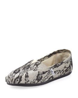 TOMS Lace Slip-On, Black
