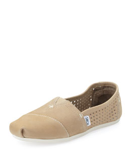 TOMS Perforated Leather Slip-On, Sand