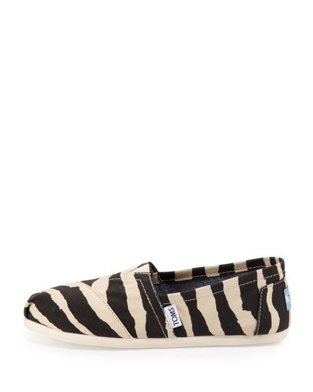 Zebra-Print Slip-On, Black/White