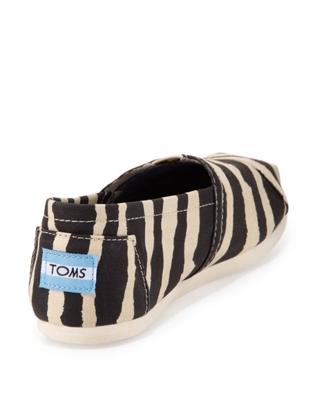 Zebra-Print Slip-On, Black/White