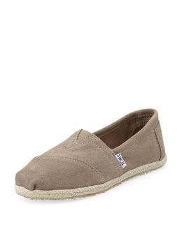 TOMS Suede Espadrille Slip-On, Taupe