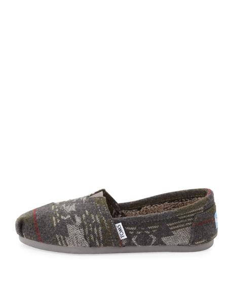 Jacquard Flannel Slip-On