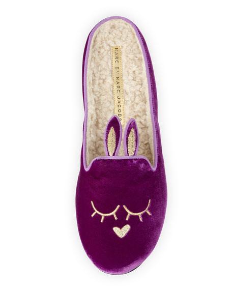 Sleeping Bunny Slipper, Violet