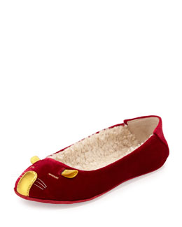 MARC by Marc Jacobs Sleeping Mouse Velvet Slipper