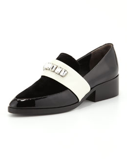 3.1 Phillip Lim Quinn Embellished-Strap Pointy-Toe Loafer