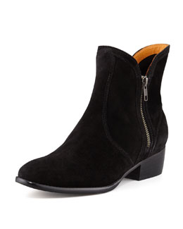 Seychelles Lucky Penny Suede Bootie, Black