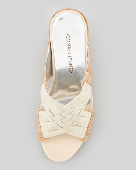 Gift Cork Wedge Sandal, Beige