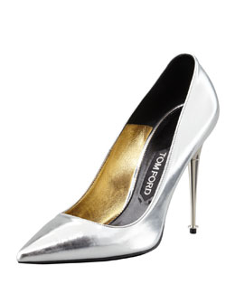 Tom Ford Mirror-Leather Pointy-Toe Pump