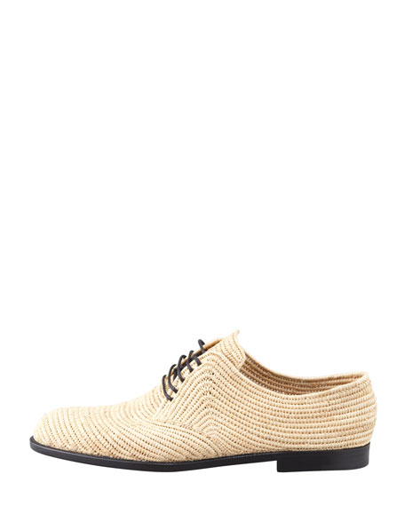Soft Woven Straw Oxford, Natural