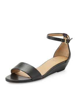 MARC by Marc Jacobs Napa Demi-Wedge Sandal, Black