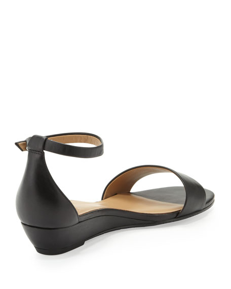 Napa Demi-Wedge Sandal, Black