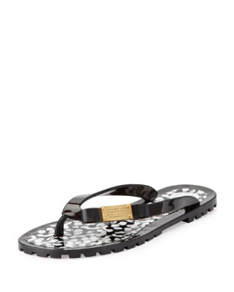 MARC by Marc Jacobs Bow Logo Jelly Flip Flop