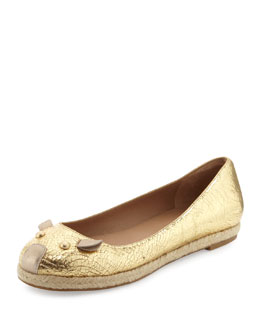 MARC by Marc Jacobs Metallic Mouse Espadrille Flat, Gold