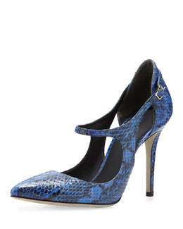 Alexander Wang Inka Cutout Mary Jane Pump, Curacao