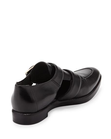 Jacquette Cutout Double-Buckle Shoe