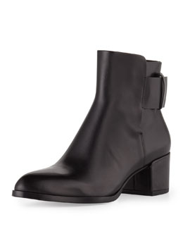 Alexander Wang Anja Buckled Leather Bootie, Black