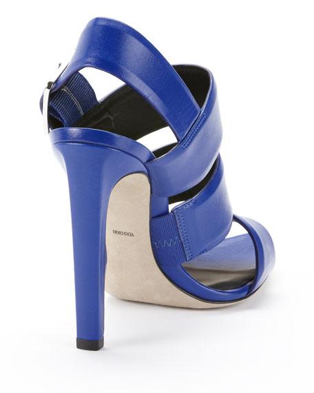 Kerry Triple-Strap Sandal, Blue