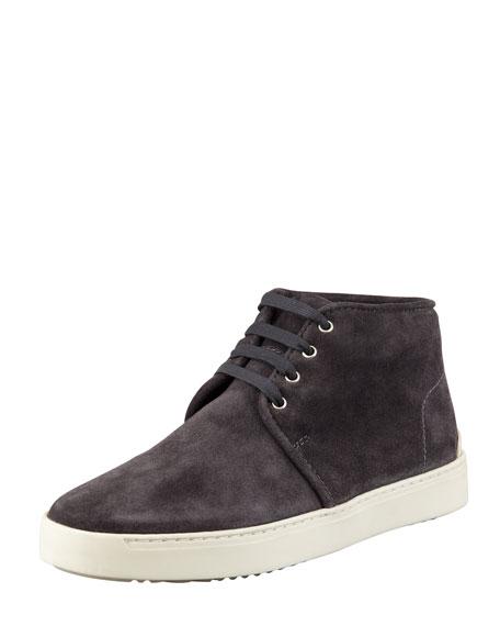 Kent Suede Desert Sneaker, Charcoal
