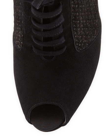 Paonessa Punched Lace-Up Bootie