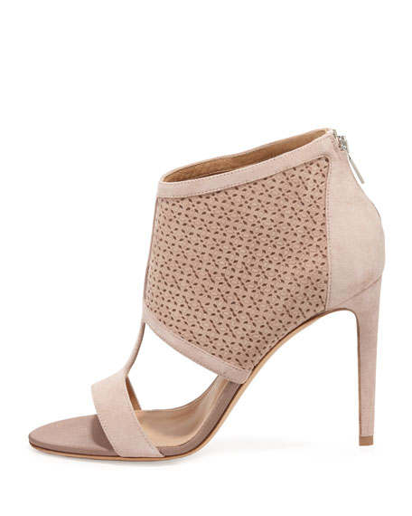 Pacella Perforated Peep-Toe Bootie