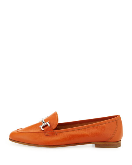 My Informal Leather Loafer, Calendula Orange