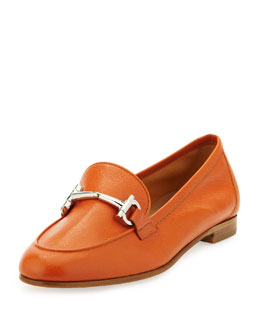 Salvatore Ferragamo My Informal Leather Loafer, Calendula Orange