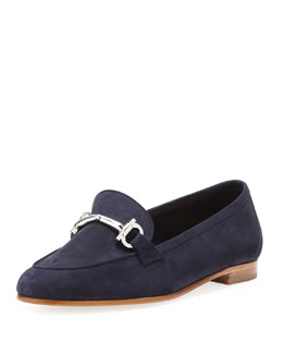 Salvatore Ferragamo My Informal Suede Loafer, Oxford Blue