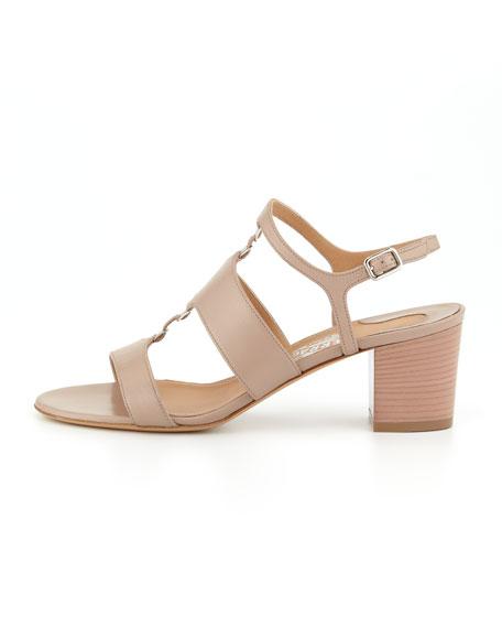 Salvatore Ferragamo Strappy block-heel sandals Vente De La France Livraison Gratuite Trouver Une Grande NFPjxL